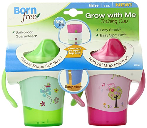 BPA-Free Grow with Me 6 oz. Training Cup, 2 Count, Girl