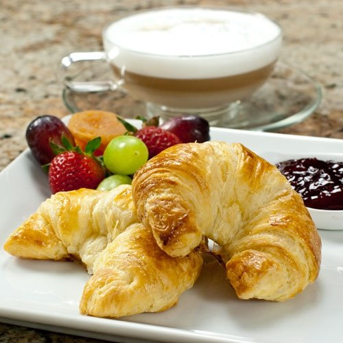 100% Butter French Croissants - 3.5 oz, Frozen, Unbaked - 1 case - 48 count