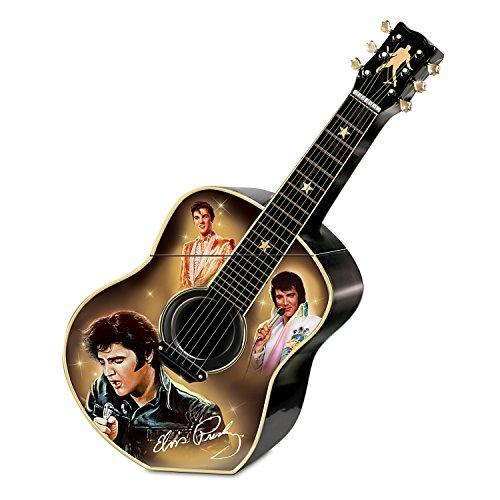 Elvis Presley Black Leather Costume (Elvis Presley Guitar Shaped Ceramic Cookie Jar: Elvis A Taste Of Rock 'N' Roll by The Bradford Exchange)