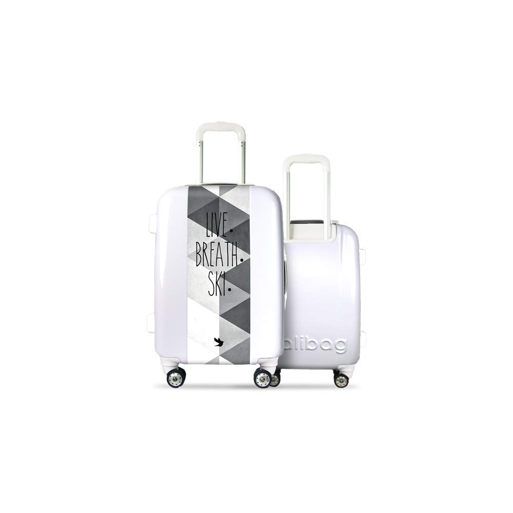 Valise CALIBAG (Format Cabine) Classic Breath+Ski White Blanc
