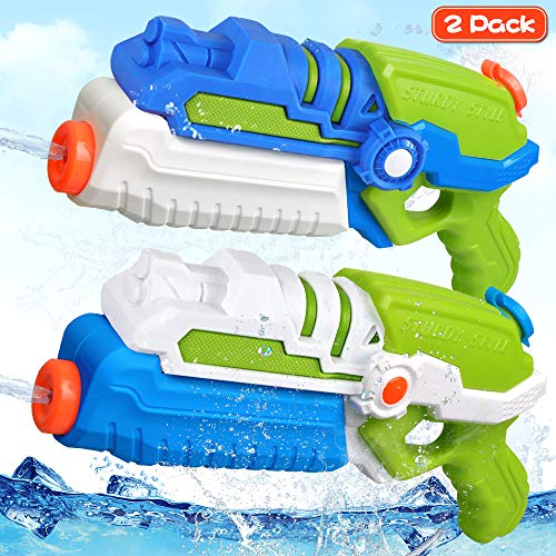 FLY2SKY Water Guns for Kids Super Soaker Water Gun Toys 2 Pack 900CC High Capacity 35ft Long Range Water Blaster Pool Toys Pool Party Favor Water Toys Water Fight Toys Summer Gifts Squirt Guns