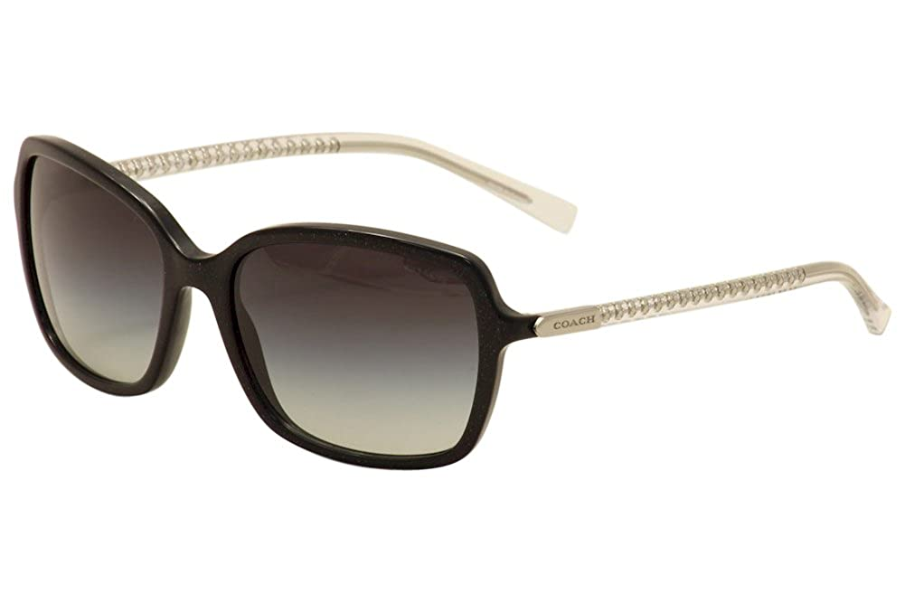 9707012d5cfa0 Amazon.com  Coach Womens L136 Sunglasses (HC8152) Black Grey Acetate -  Non-Polarized - 57mm  Clothing