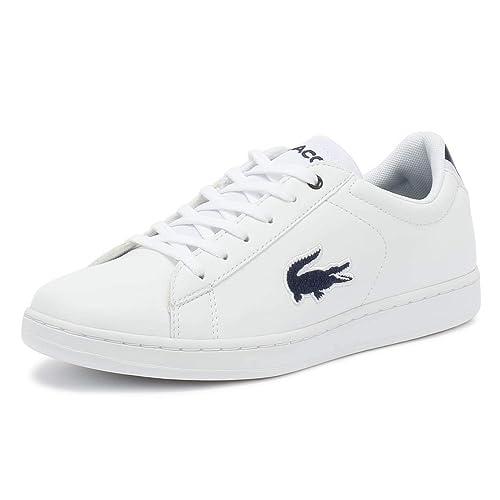Lacoste Carnaby EVO 318 1 Junior Blanco Azul Marino Zapatillas  Amazon.es   Zapatos y complementos 4b0682ac4abcf