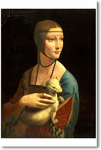 Lady with an Ermine - 1490 - Leonardo daVinci - NEW Fine Arts ()