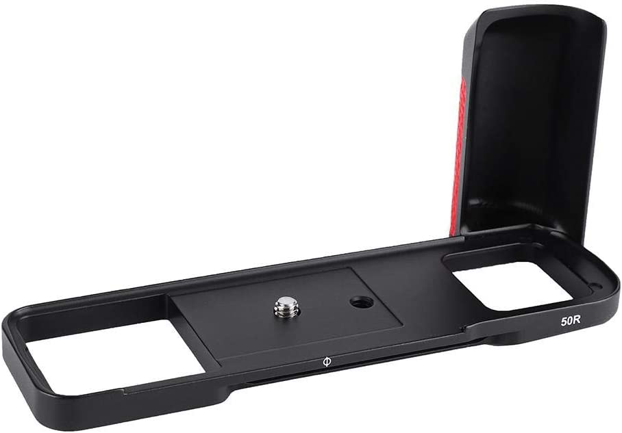 Wandisy Aluminium Alloy L-Bracket Detachable Quick Release Plate Camera for GFX 50R Black