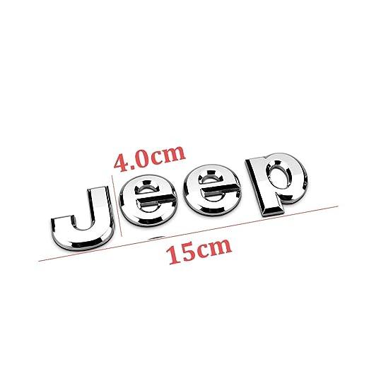Hanway 3d adhesivo Jeep delantero Cap/ó Emblema para maletero palabras Jeep Logo Capucha cabeza adhesivo Wrangler Grand Cherokee Liberty Br/újula