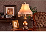 MILUCE European Table Lamp Retro Bedroom Bed Warm Wedding Decoration Lamp
