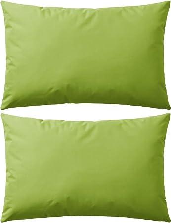 vidaXL 2X Cojines para Exteriores 60x40cm Verde Manzana Casa y Jardin Hogar: Amazon.es: Hogar