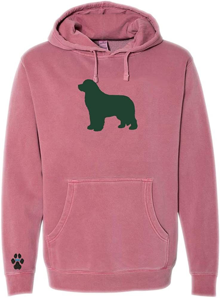 Heavyweight Pigment-Dyed Hooded Sweatshirt with/Newfoundland Silhouette