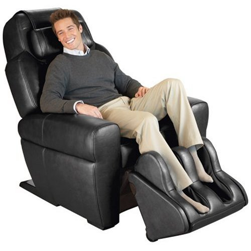 Black Leather HT-1650 Human Touch Robotic Massage Chair Recliner - Refurbished