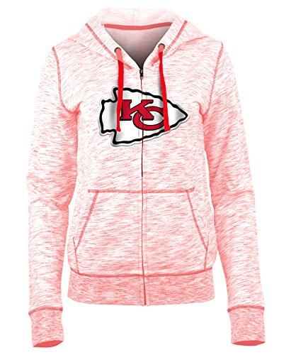 (New Era Kansas City Chiefs Ladies French Terry Space Dye Full Zip Hoodie X-Small)