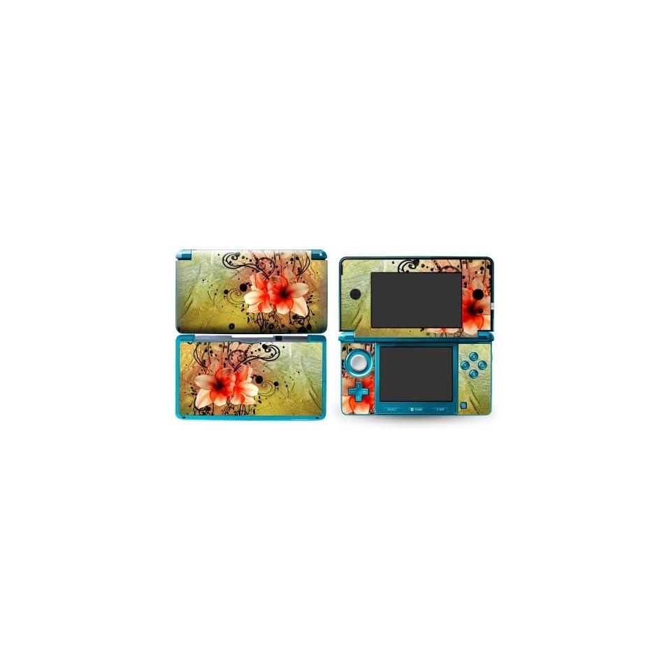 Bundle Monster Nintendo 3ds Vinyl Skin Cover Art Decal Sticker Protector Accessories   Swirly Flower