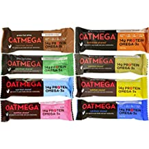 Boundless Nutrition Oatmega Grass-Fed Whey Bars 8 Flavor Variety Pack (Pack of 8)