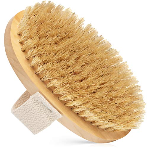 Amazon Com Dry Body Brush 100 Natural Bristles Cellulite Treatment Increase Circulation And Tighten Skin Pack Of 1 Beauty