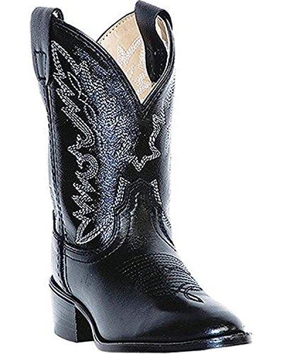 Dan Post Boys' Chaps Cowboy Boot Round Toe Black 9.5 D(M) US by Dan Post Boot Company (Image #1)'