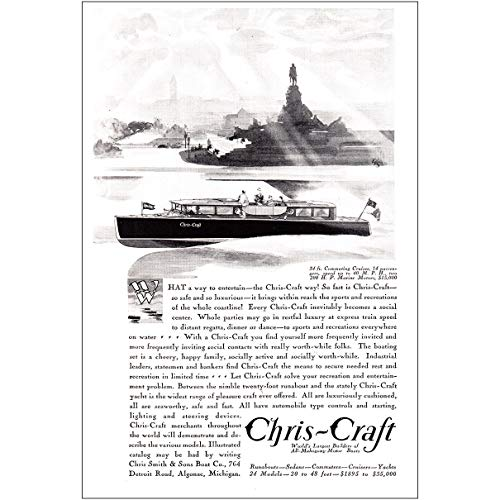 RelicPaper 1930 Chris Craft Boats: Commuting Cruiser, Chris-Craft Print Ad
