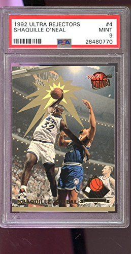 1992-93 Ultra Award Rejector Shaquille O'Neal ROOKIE PSA 9 Card Shaq Rejectors