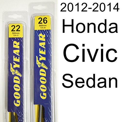 (Honda Civic Sedan (2012-2014) Wiper Blade Kit - Set Includes 26