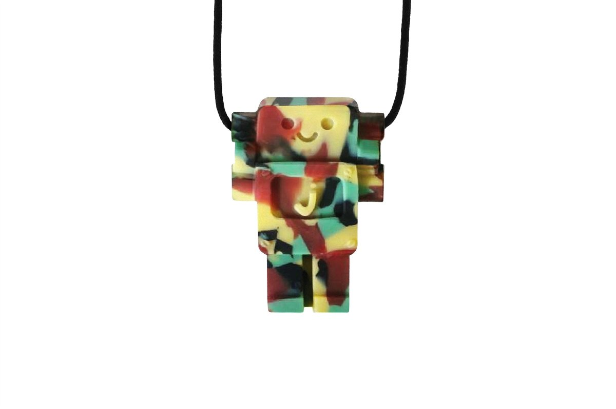 Jellystone Robot 13 Pendant Teether Kids Necklace - Camo