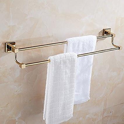 Hlluya Toallero Chapado en Oro y una Toalla de baño de Oro Antiguo Bastidor montado en