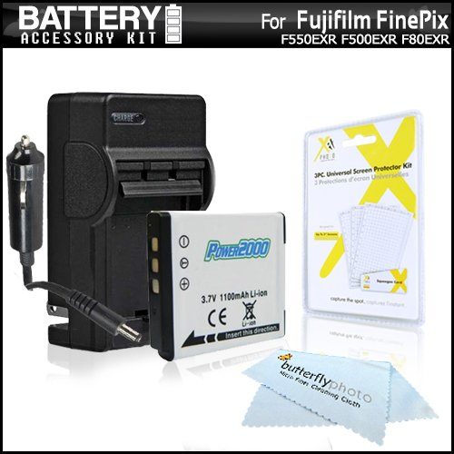 (Battery And Charger Kit For Fujifilm FinePix X20, F660EXR, XF1, F750EXR, F550EXR F500EXR F80EXR, F600EXR, F505, F800EXR, F850EXR, F900EXR Digital Camera Includes Replacement NP-50 Battery + Charger ++)