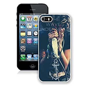 New Unique DIY Antiskid Skin Case For Iphone 5S Sleeping With Sirens iPhone 5s White Phone Case 401