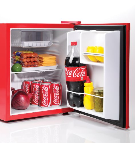 Nostalgia-CRF170COKE-Coca-Cola-17-Cubic-Foot-Refrigerator-with-Freezer-Compartment