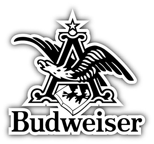 Budweiser Beer Logo Eagle Car Bumper Sticker Decal 5'' x 4''