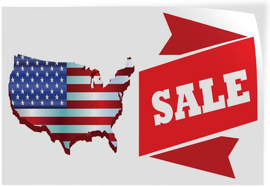 52inx34in Decal Sticker Multiple Sizes Sale #2 Style B Business Sale Outdoor Store Sign White Set of 2