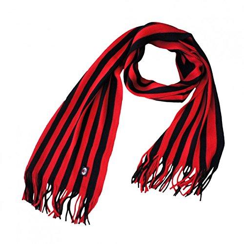 100 PC oficial producto estriado bufanda AC Milan Z0xwvZU