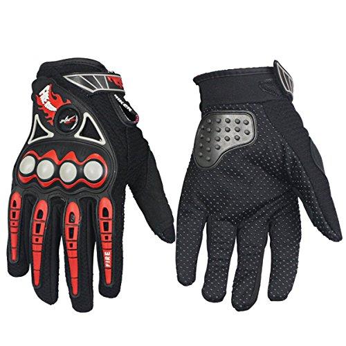 Chitone Full Finger Motorcycle Gloves Motorbike Motoross Gloves (X-Large, Black)