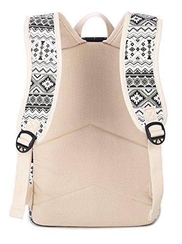Tibes Zaino Donna Zaino Di Tela Zaino Ragazza Borsa Zaino Backpack Women Schoolbag Dreiteilig Acqua Blu