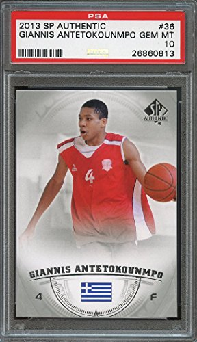 2013-14 sp authentic #36 GIANNIS ANTETOKOUNMPO milwaukee bucks rookie PSA 10 Graded Card