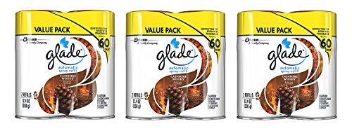 Glade Automatic Spray gtgVX Air Freshener Refill, Cashmere Woods, 2 Count (3 Pack) by Xiade