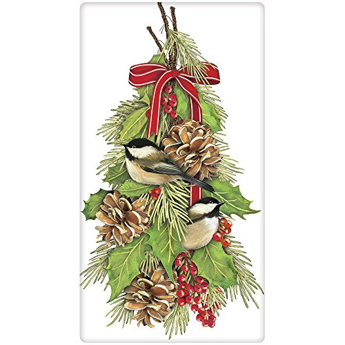 (Mary Lake-Thompson - Chickadee Holly Bagged Towel)
