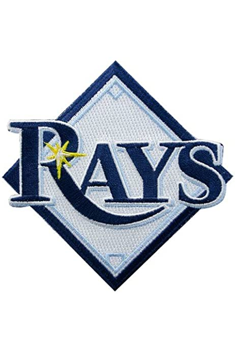 amazon com tampa bay rays embroidered team logo collectible patch sports fan wallets sports outdoors tampa bay rays embroidered team