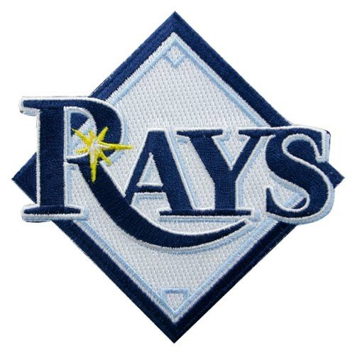 (MLB Tampa Bay Rays Embroidered Team Logo Collectible Patch)