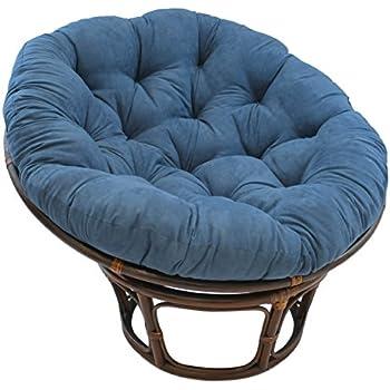 Rattan papasan chair with cushion kitchen for Black papasan chair cushion