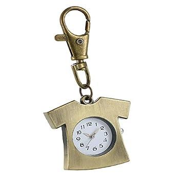 ZHEBAO Reloj De Bolsillo Retro Unisex Novedad Latón Camiseta ...