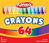 Playskool 64-Count Crayons with Built-in Sharpener