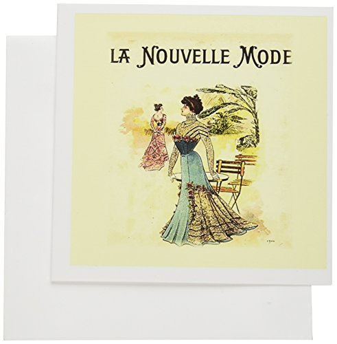 3dRose 1900 Cover Of French Magazine - Greeting Cards, 6 x 6 inches, set of 12 (gc_123261_2) -