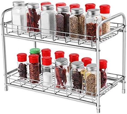 BESTONZON Spice Jars Spice Organizer Round Ceramics Spice Storage con tapas de bamb/ú para sellar el ajo y el jengibre 13 x 13 x 11 cm