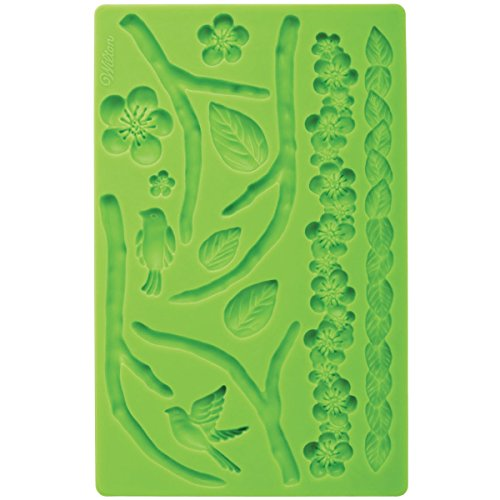Wilton Silicone Nature Designs Fondant and Gum Paste Mold - Cake Decorating Supplies