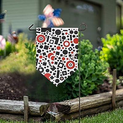 LENNEL Bandera de jardín de Doble Cara 12x18.5 Pulgadas Yarda Decorativa para el hogar Banner Exterior Textura Cuadrada Vida Amor: Amazon.es: Jardín