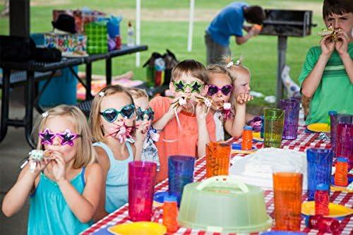 BESTOYARD Party Funny Glasses Triangle Occhiali da vista rosa e verdi per feste in maschera