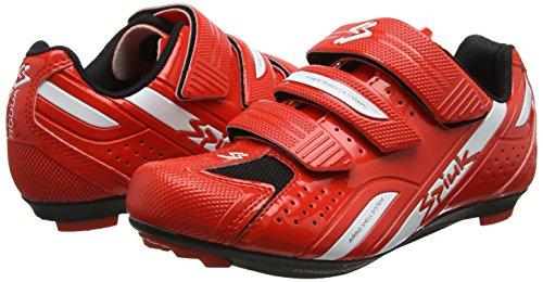 Zapatillas Unisex Road Blanco Rojo Spiuk Rodda qFR4x4