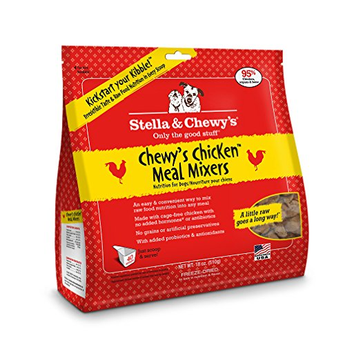 Stella & Chewy's Freeze-Dried Raw Chewy's Chicken Meal Mixers Grain-Free Dog Food Topper, 18 oz bag