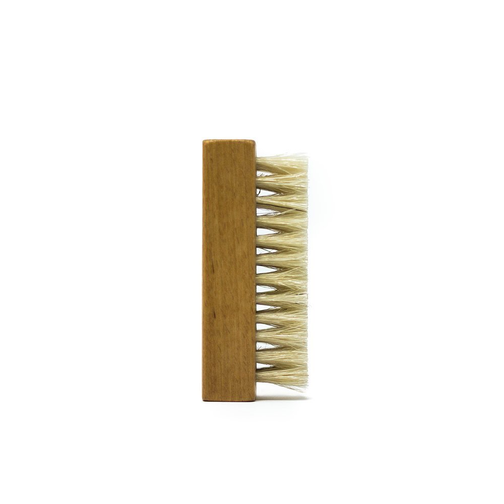 Premium Shoe Cleaning Brush - Soft hog's hair bristles for delicate material and surfaces - Handcrafted walnut wood handle