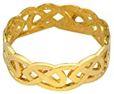 Solid Gold Celtic Wedding Band Trinity Knot Eternity Ring (14k) (11)