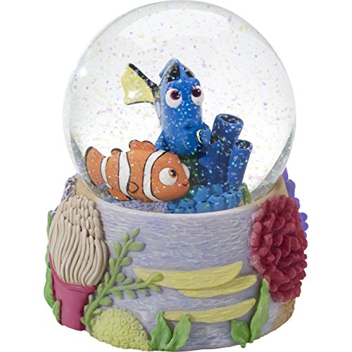Collectible Snowglobe - Precious Moments 164705 Finding Dory Resin/GLASS Snow Globe Disney Showcase Collection, Multicolor
